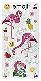 Emoji flamencos Toalla, algodón, Multicolor, 70x 0,5x 140cm