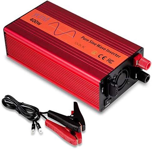 YCIND 400W Pure Sine Wave Inverter Car Inverter 12VDC to 110VAC 2 US Outlets Car Adapter Inverter product image