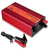 YCIND 400W Pure Sine Wave Inverter Car Inverter 12VDC to 110VAC 2 US Outlets Car Adapter Inverter Charger