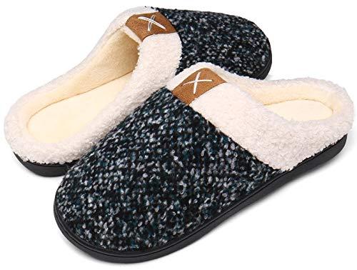 Mishansha Zapatillas Invierno Mujer Casa Zapatos Memory Foam Pantuflas Casa Cómodas Suave Slippers Suela de Goma,Turquesa,36/37