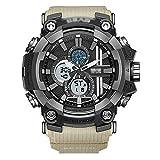 SXXYTCWL ES Mens Digital Deportes, Casual Reloj electrónico for los Hombres, Números Grandes 50m Impermeable de diseño Simple, con el Despertador, Luminoso G jianyou (Color : D)