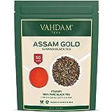 VAHDAM, Assam Gold Second Flush, 100 gramos (50 tazas)   RICO & DE MALTA ASSAM TEA Hojas sueltas   Hojas sueltas de té negro 100% puro no reforzado   Hojas de té negro con puntas doradas.