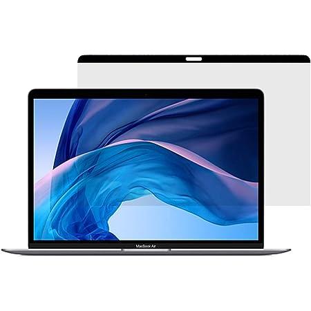 覗き見防止 macbook air 13 保護フィルム フィルター/プライバシー を守る【ブルーライトカット】 2021 M1 マグネット 対応 反射防止 アンチグレア (MacBook Air 13インチ 2018~2021年新モデル)