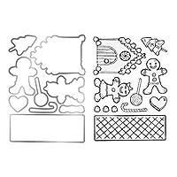ダイカット テンプレート スクラップブック DIY用品 金属切削ダイス ダイステンシル カッティングダイ 手作り 描画テンプレート カード作り道具 スクラップブッキング用品 切り抜き紙が作れる型 紙飾り用具