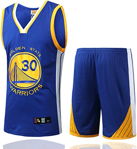 YDYL-LI oren State Warriors 30  Stephen Curry All-Star Jersey De Basket-Ball Veste De Sport sans Manches De Compétition Uniformes De L'équipe Fans Uniformes De Basket-Ball (Taille  S-XXXL),bleu,M