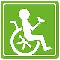 imoninn 障害者マーク 【マグネットタイプ】 車いすサイン・福祉車両用 (黄緑色)