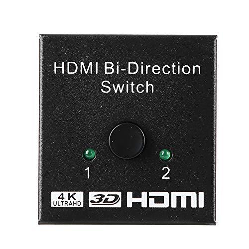 CHICIRIS 15mA Betriebsstrom 4K Bidirektion HDMI, HDMI Switcher, unterstützt eine Vielzahl von Videoformaten für das TV-Büro von Projektoren
