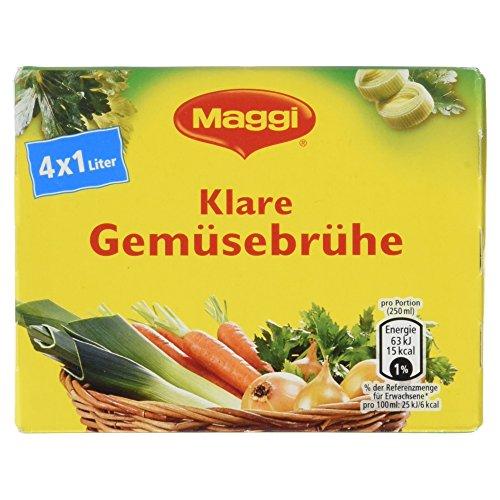 Maggi Klare Gemüsebrühe, 4er Pack (4 x 22,5 g)