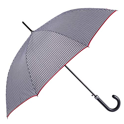 Bolero Ombrello da Pioggia Lungo Classico Antivento e Automatico di alta qualità - Apertura Automatica - Tessuto Pongee 190T - Uomo Donna, stampata: ombrelli, h: 85 cm. ø: 102 cm