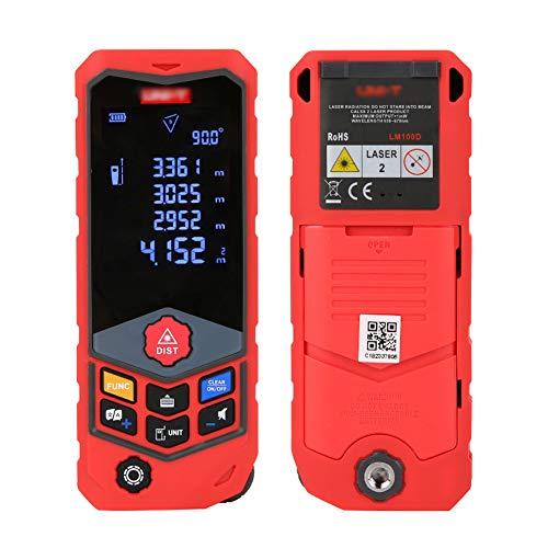 Misuratore Laser, USB Carica Rapida, Telemetro Laser, LCD Retroilluminato,Misura Distanza, Area e Volume, Angolo