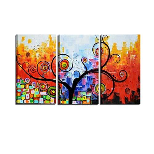i Colori del Caribe Cuadros Abstractos Pintados a Mano Sobre Lienzo intelaiati Placas de Colgar Colores Componibili Composición para arredare Casa Oficina salón salón Cocina, Made in Italy–Tarot