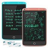 Tecboss Tableta de Escritura LCD, 8,5 Pulgadas Tableta Gráfica con 4 Imanes, Tablero de Dibujo Pizarras para Oficina en Casa Escuela, 2 Paquetes