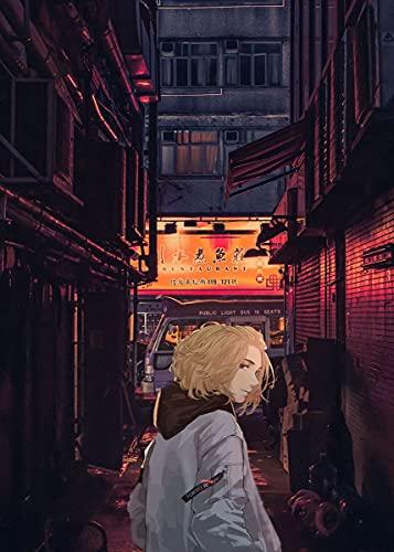 qingqingzijin Anime Tokyo Revengers Poster Manji Gang City Neon Night Lienzo Pintura Arte decoración del Dormitorio Kawaii Room DecorA2416 50 × 70CM sin Marco