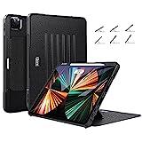ZtotopCases Funda para iPad Pro de 12.9 Pulgadas 2021,Protección con 6 Ángulo de Visión Magnético, Compatible con iPad Pencil de Segunda Generación, Función Automática de Reposo / Activación, Negro