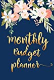 Monthly Budget Planner: Personal Finance Planner and Organizer To Save Money and Track Bills and Spending | Trendy Floral and Gold Cover