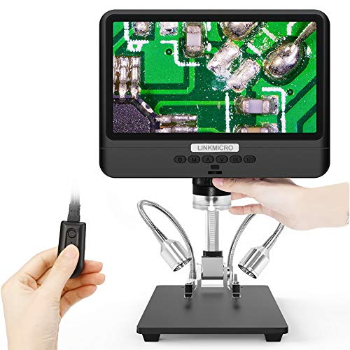 Digital Microscope 8.5 inch Large LCD Screen Linkmicro Long Distance Lens for Repairing Soldering Material Inspection Observation