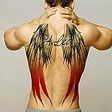 Tatuaje Temporal,Etiquetas Engomadas del Cuerpo De Transferencia Espalda Completa Alas del Diablo del Ángel Tatuaje Grande para Hombres Mujeres Brazo Pecho Pierna Cintura Cuello Tatuaje Impermeable