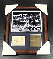 Joe DiMaggio Autographed Photo - Cut Facsimile Reprint Framed 8x10 - Autographed MLB Photos