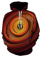 Pizoff(ピゾフ) 長袖パーカー メンズ 3Dプリント 面白 派手 ふざけパーカー ダサい ストリート 大きいサイズ 秋AL195-06-XXL-JP