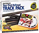 Bachmann Trains Snap-Fit E-Z TRACK WORLD'S GREATEST HOBBY TRACK PACK - Steel Alloy Rail With Black Roadbed - HO Scale