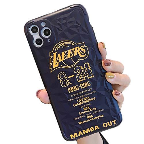 JZWDMD Funda para iPhone 11 Ultra Thin y NBA Kobe Bryant Lakers 24 Basket Sport con diseño de Patrones para iPhone 11/11 Pro/MAX,A,iPhone XS MAX