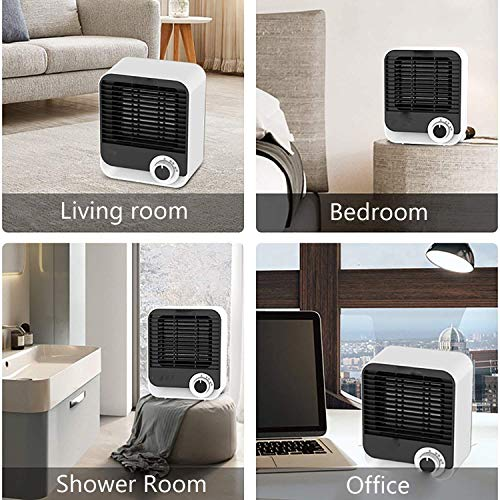 HEATER Portable Fan, Electric Silent Personal Space 900W/1200W Table Mini Ceramic Rotatable Blow Tip-Over Overheat For…