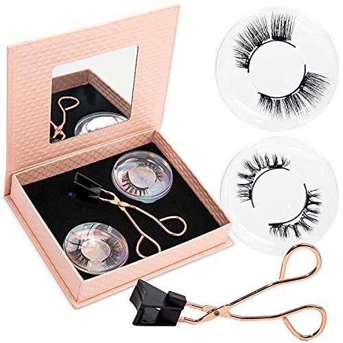 Dual Magnetic Eyelashes, False Magnetic Eyelashes, Ultra Thin 2mm Magnet eyelashes, Reusable Eyelashes with Applicator (2 Pairs)