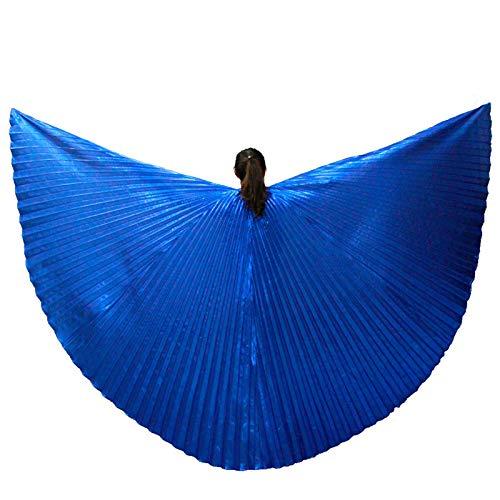SUKDO Traje De Alas De Danza del Vientre Alas De ngel para Mujer Alas De ISIS Escenario De Carnaval Ropa De Halloween,Blue 2