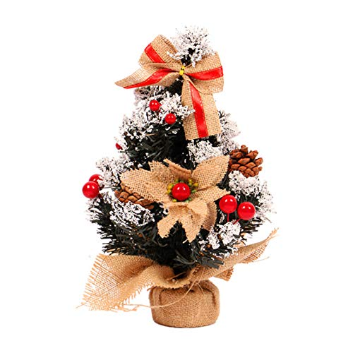 Haijun Mini Artificial Christmas Tree with Ornaments-11.8inch//30cm for Table and Desk 12ft
