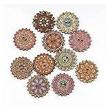 Accesorios de vestir 50pcs Botón de costura pintado redondo de madera natural de 50 unids para la decoración de ropa Libro de recuerdos DIY Coser Coser ACCESORIOS para decoraciones artesanales de bric