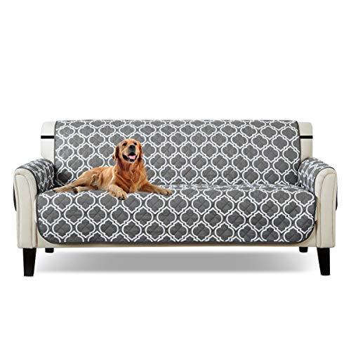 PETCUTE Funda Sofa 3 plazas Cubre Sofa Fundas de sofá Acolchado Resistente al Agua Protector de Sofá Muebles para Mascotas