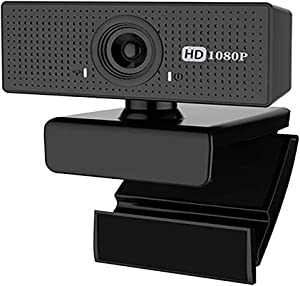 Webcam HD 1080P with Built-in Dual Microphone, Gaming Conferencing, Office Laptop Desktop Rotatable Webcam, USB Computer Camera for PC Mac, Free-Driver Installation Fast Focus, Poaeaon U1