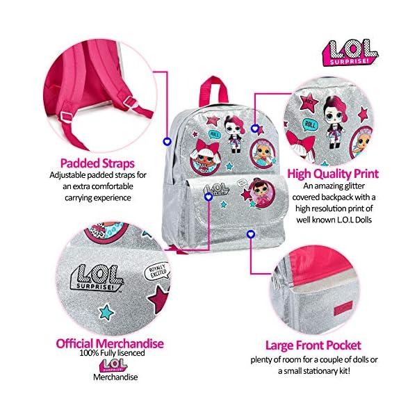 L.O.L. Surprise ! Mochilas para Niñas | Nuevas Mochilas Escolares Juveniles para Chicas De Confetti Pop | Mochila…