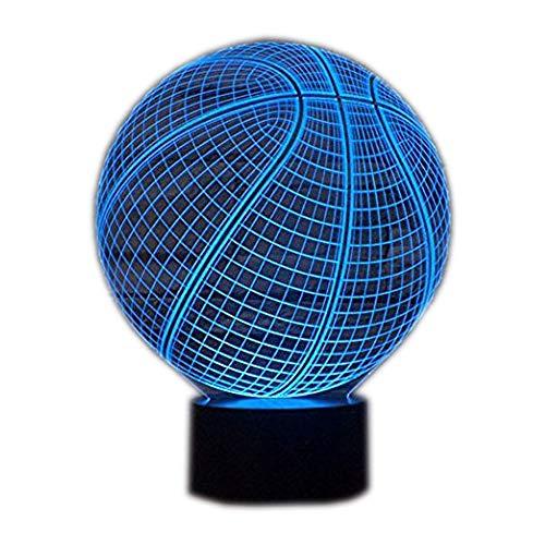 Ahat Romantische 3D Led Illusion Tisch Schreibtisch Deko Lampe 7 Farben ändern Nacht Licht für Schlafzimmer Home Decoration, Hochzeit, Geburtstag, Weihnachten und Valentine Geschenk(Basketball)