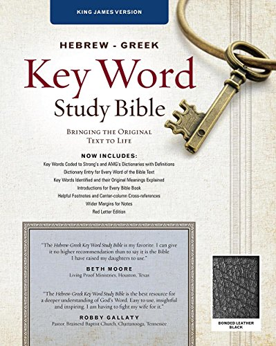 The Hebrew-Greek Key Word Study Bible: KJV Edition, Black Bonded (Key Word Study Bibles)