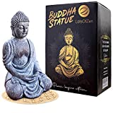 Buddha Statue Home Decor — Zen Decoration Statues, Outdoor Garden Decoration, Durable Resin Material with Round Base — Living Room Decorations, Table Shelf Figurines, Altar Meditation Gifts