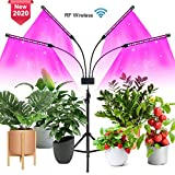 Niello LED Grow Light with Floor Stand, Upgraded Floor Plant Light, Full Spectrum 4-Head Grow Lamp for Indoor...