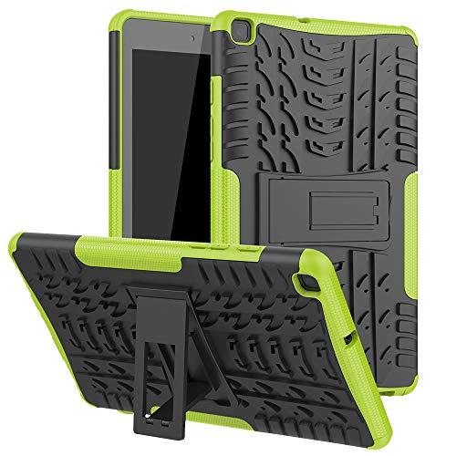 Funda para Samsung Galaxy Tab A8 (2019) - Heavy Duty Hybrid Tough Rugged Dual Layer Armor - Kickstand Cover - Verde