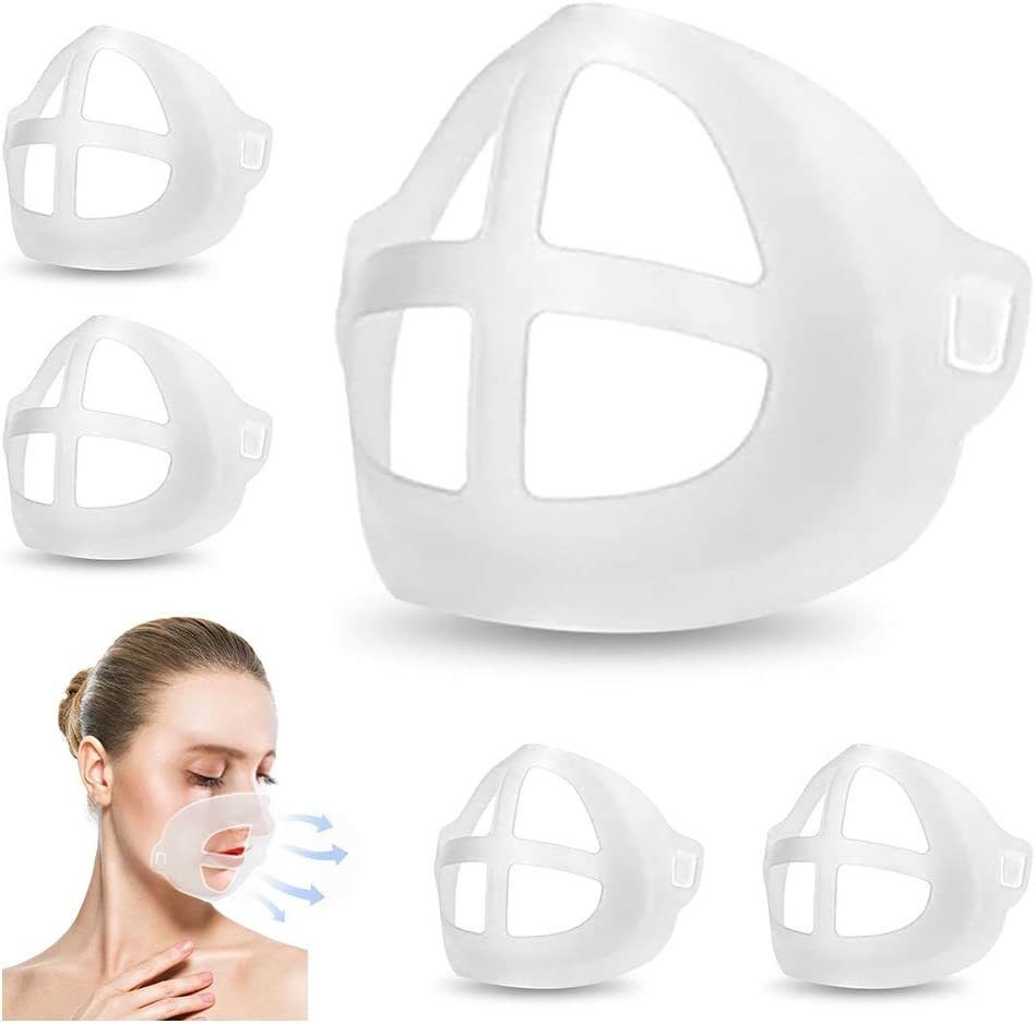 3D Mask Fresno Mall Bracket for Comfortable Max 44% OFF 5 Washable Reusab Pcs Breathing