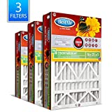 BestAir AB1625-11R AC Furnace Filter, 16' x 25' x 5', MERV 11, Fits 100%, for Trion Air Bear, Supreme, Skuttle, GeneralAire, Source1 & Ultravation Models, Pack of 3, 3