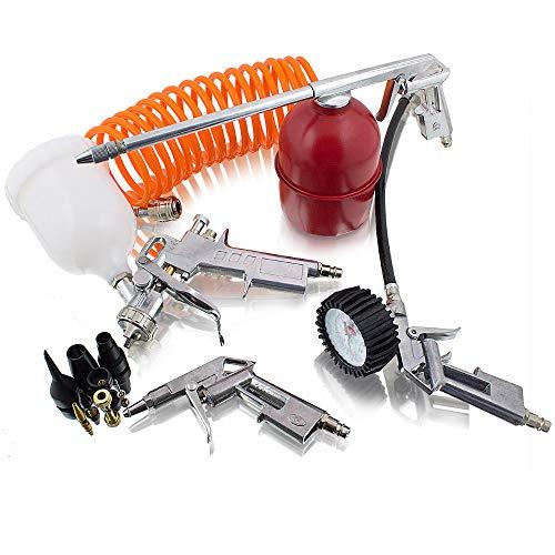 13 teiliges Druckluft Zubehör Set für Kompressor Reifendruck Sprühpistole Lackieren