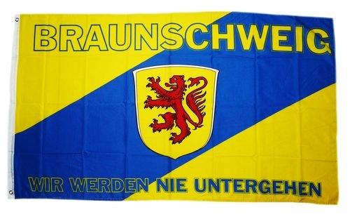 Flagge Fahne Braunschweig Wir werden nie untergehen 90 x 150 cm