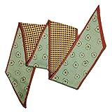 女性のお店軽量でスタイリッシュなデザイン スカーフとショール - 純粋な色の鋭角のシルクスカーフと鯉のぼりの女性春と秋の装飾の模造シルクHレタースモールスカーフ (Color : No. 5, Size : 135-175CM)