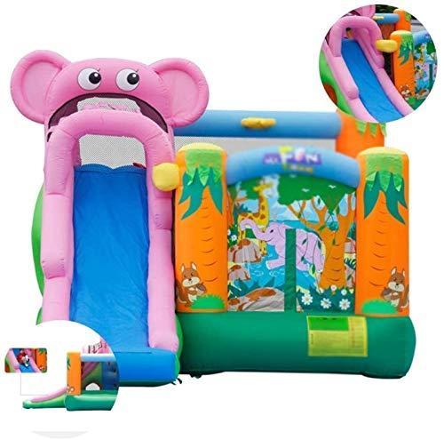 JISHIYU Juguetes inflables grandes Castillo equipo del patio accesorios de los niños de diapositivas cubierta juegos infantil bebé Trampolín adecuados for parques Parques infantiles (360 * 300 * 240 c