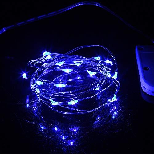 YEDDA Romantische Lichterketten, 1m 2m 3m dekorative Leuchten Led Lichterketten, Kupfer batteriebetriebene Weihnachtsbeleuchtung for Weihnachten Net Red Schlafzimmer Romantik Zimmer Vorhang Dekor
