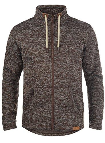 !Solid Luki Herren Fleecejacke Sweatjacke Jacke Mit Stehkragen Und Melierung, Größe:M, Farbe:Coffee Bean Melange (8973)