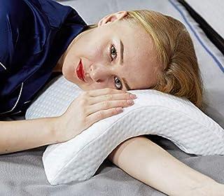 Slow Rebound Pressure Pillow Memory Foam Arch Pillow, 6 in 1 Multifunction Ergonomic Contour Ice Silk Fabric Anti-Hand Num...