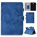 Yhuisen Cloth Texture PU Leather Tablet Stand Smart Case Cover with Auto Sleep/Wake for Samsung Galaxy Tab A 8.0 inch SM-T350/SM-T355C 2015 Release (Color : Blue)
