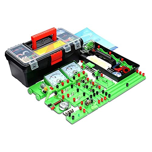 ROSG School Science Labs Kit básico de Aprendizaje de circuitos de Electricidad física física, Kits educativos de experimentación de magnetismo, Kit de exploración de electromagnetismo para