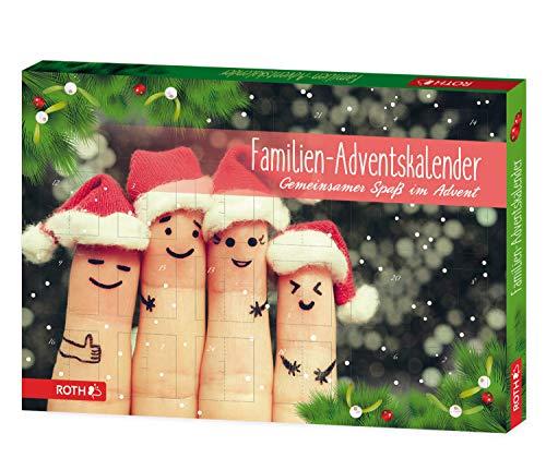 ROTH 80283 Adventskalender Für die Familie, 24 mal Familienspaß, ca. 50 x 35 x 4 cm, bunt